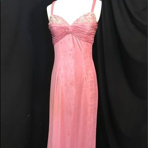 NWOT Panoply Low Open Back Mauve Shimmer Dress 6